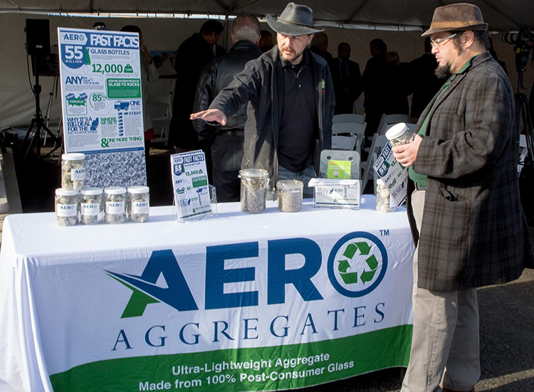 AeroAggregates booth at a DEP event