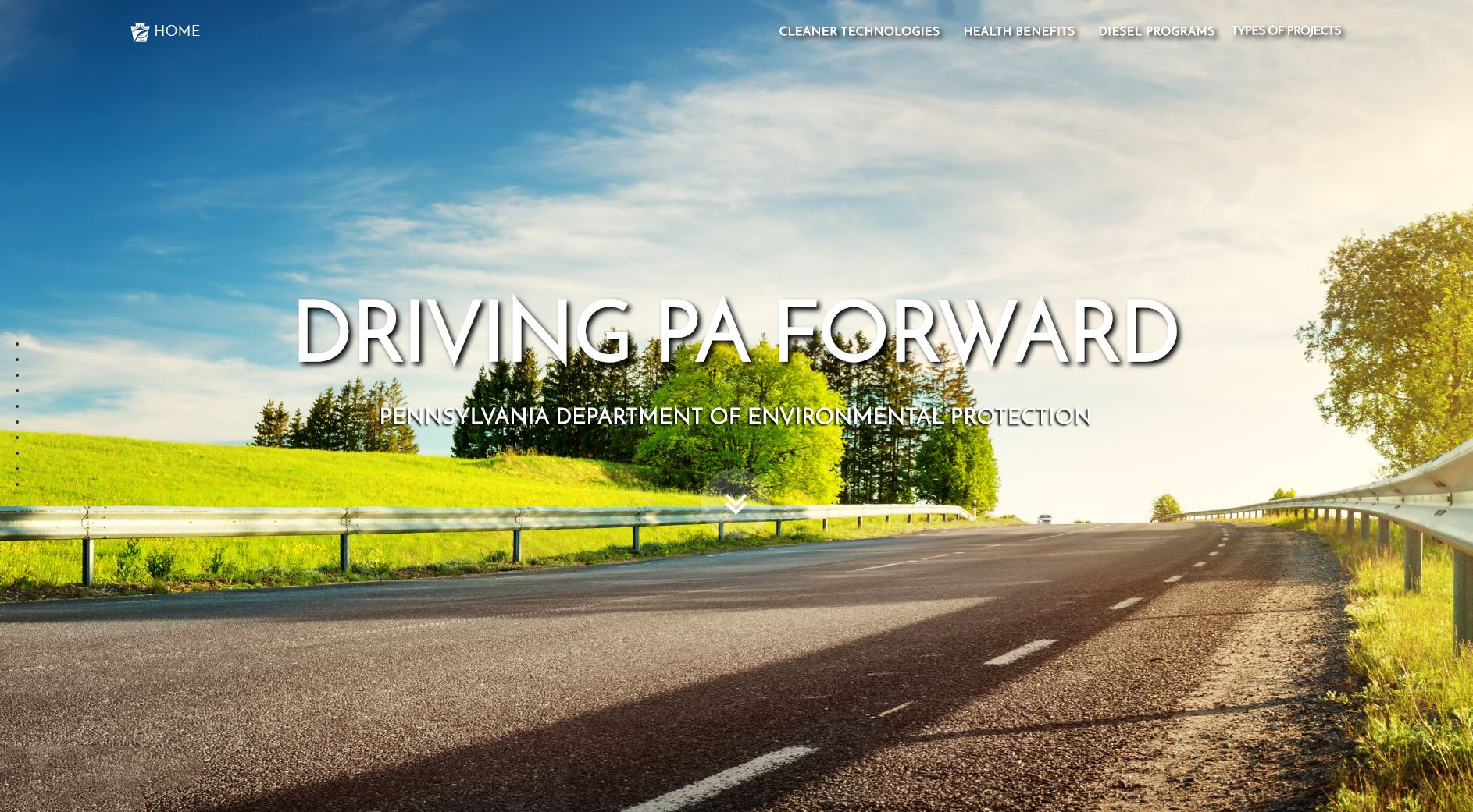 Driving PA Forward website