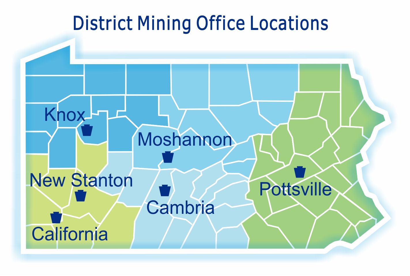 District Mining Office Map