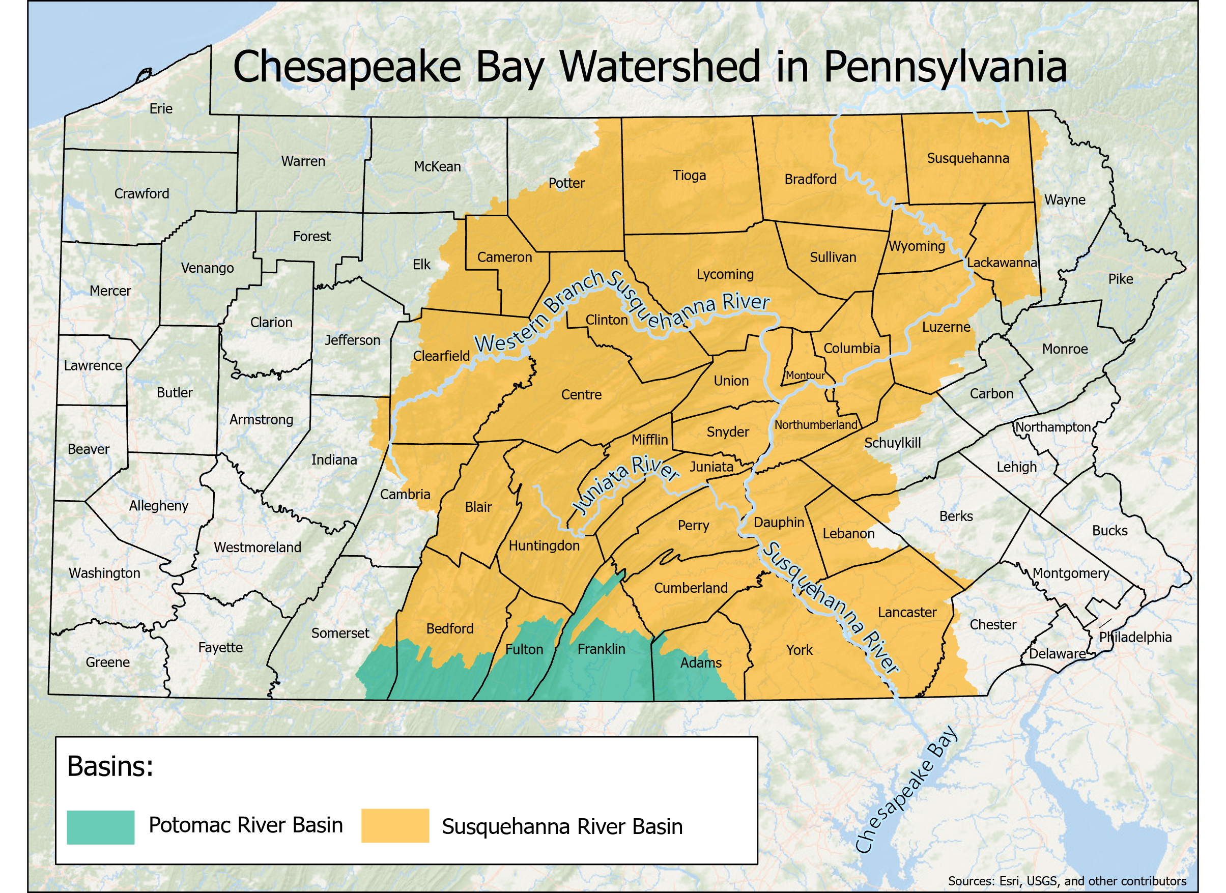 Chesapeake Bay Watershed in PA