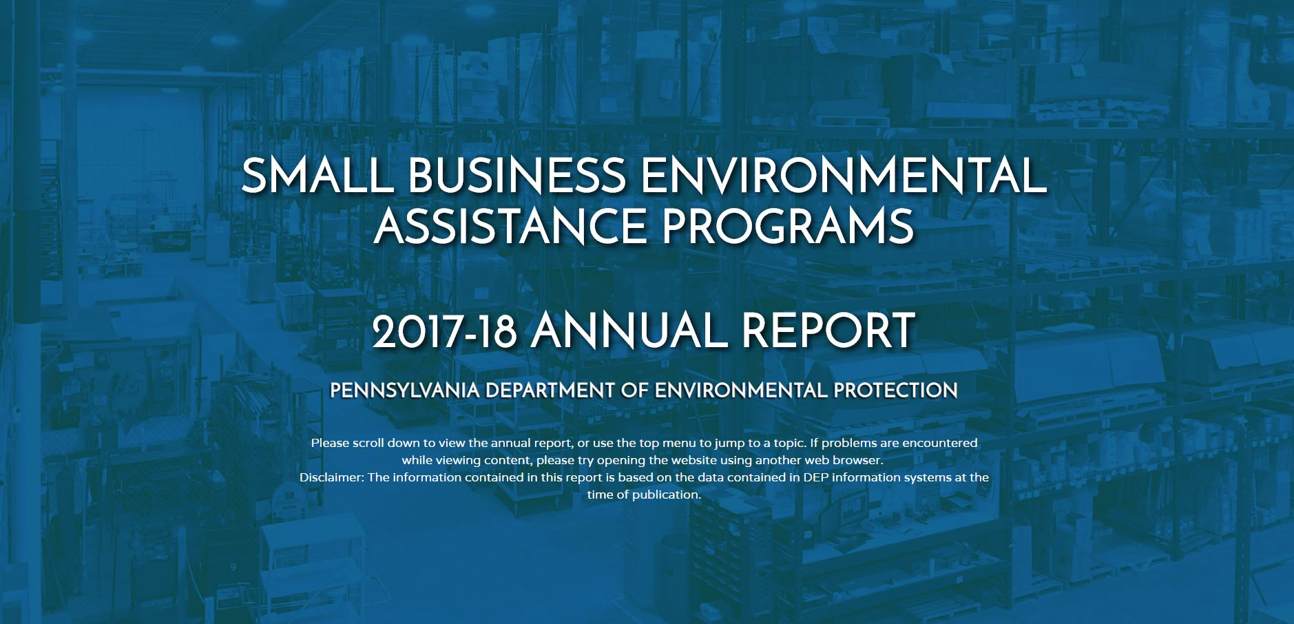 Small Business Programs Annual Report
