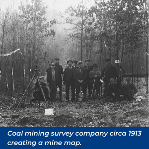 Creating a mine map in 1913