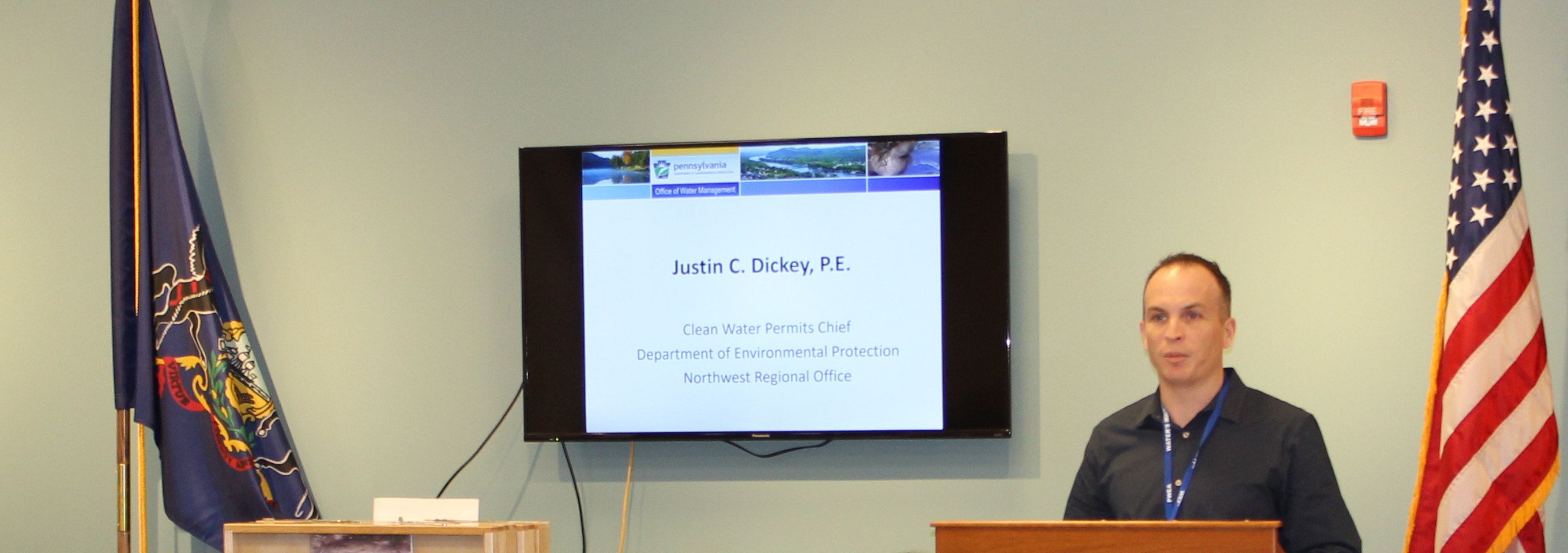 Justin Dickey at Engineering Day